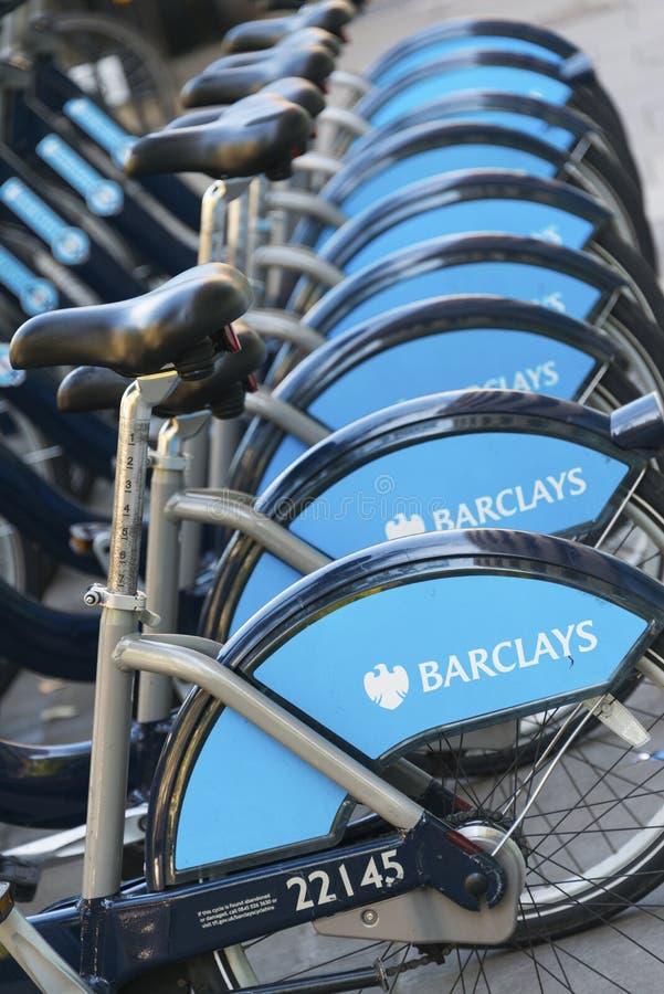 Barclays-Cyclushuur, Londen royalty-vrije stock afbeeldingen