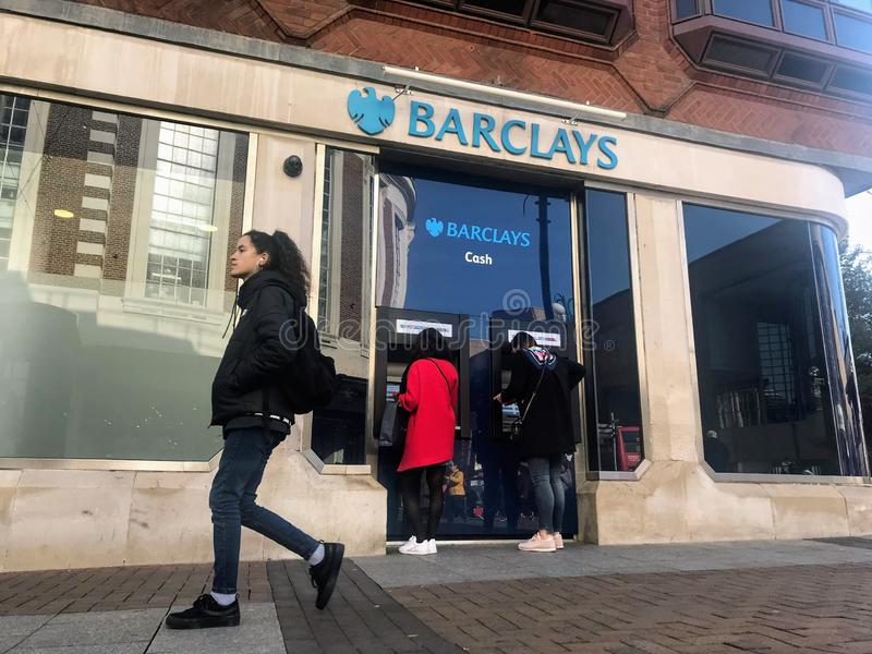 Barclays plc ,a British multinational investment bank. Barclays plc is a British multinational investment bank and financial services company,headquartered stock photography
