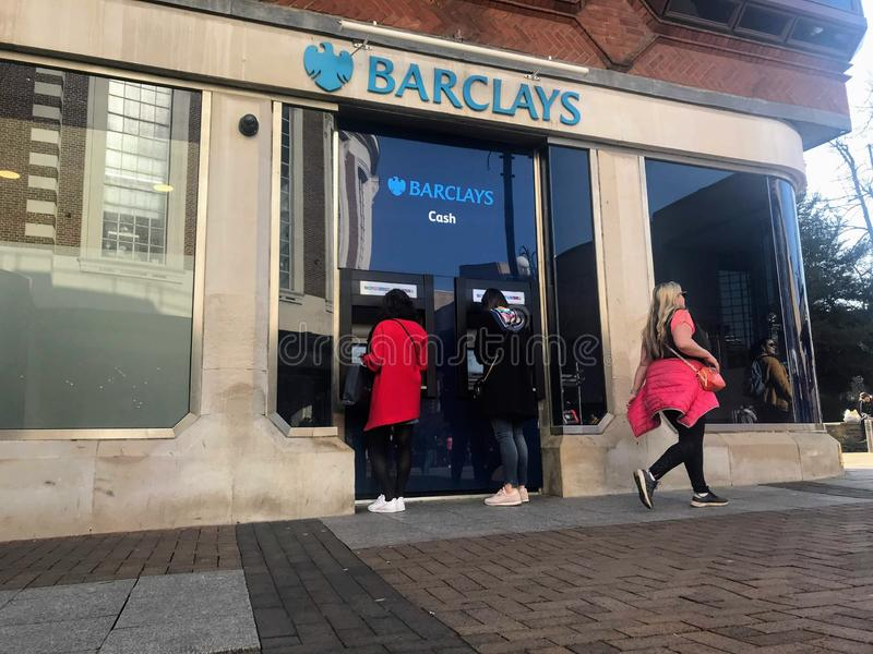 Barclays plc ,a British multinational investment bank. Barclays plc is a British multinational investment bank and financial services company,headquartered stock photos