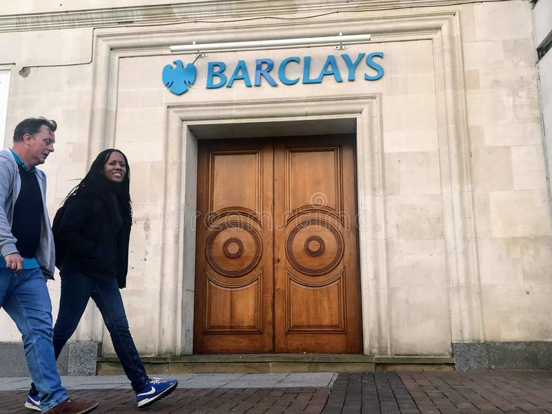Barclays plc ,a British multinational investment bank. Barclays plc is a British multinational investment bank and financial services company,headquartered stock image