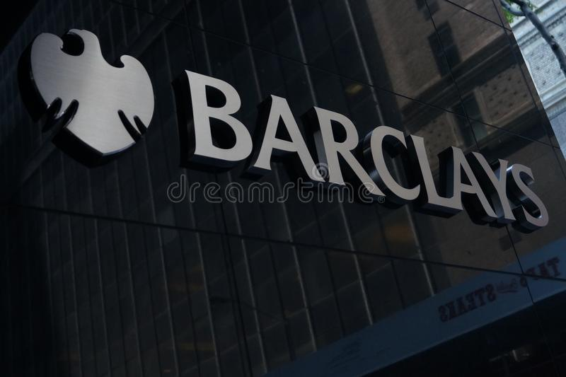 Barclays sign royalty free stock photos