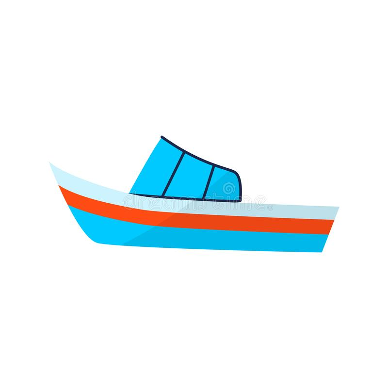 barco Ícone liso das férias de verão da cor no fundo branco ilustração royalty free