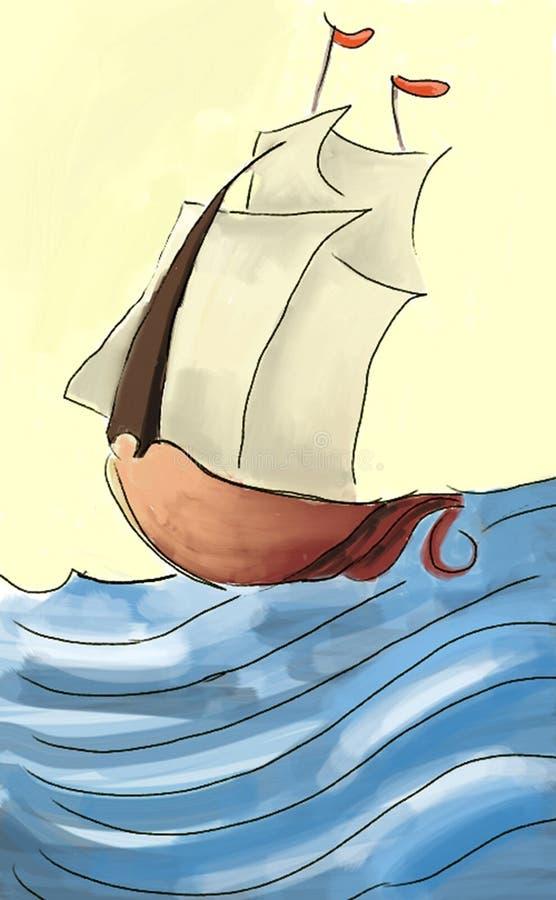 Barco stock de ilustración