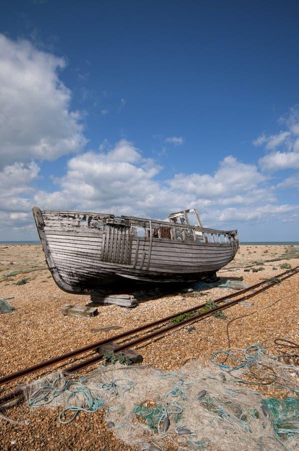 Barco abandonado foto de stock royalty free