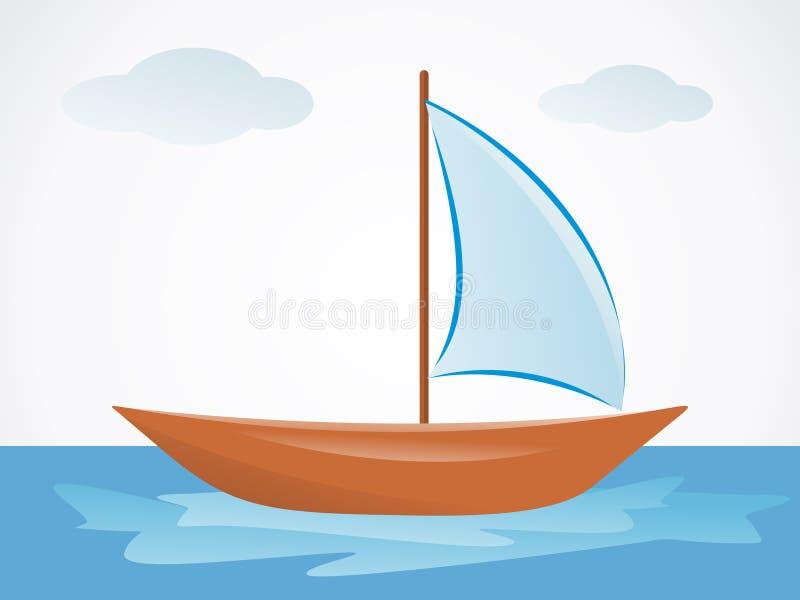 Barco abstrato do verão com mar ilustração royalty free