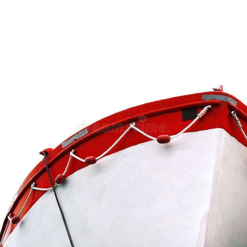 Barco aislado imagen de archivo