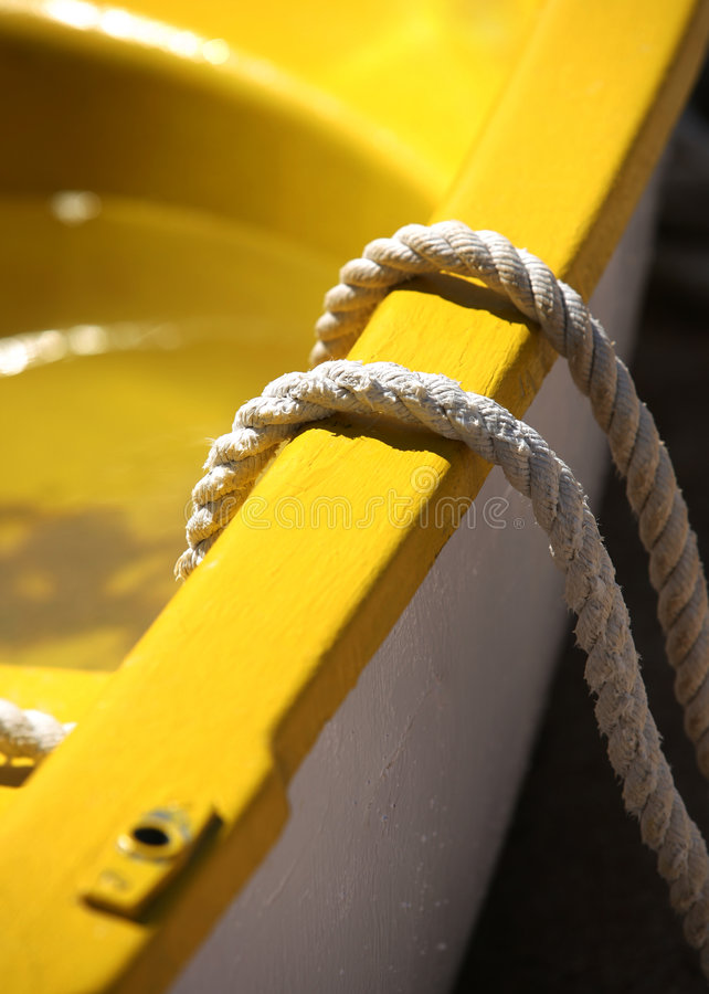 Barco amarillo foto de archivo