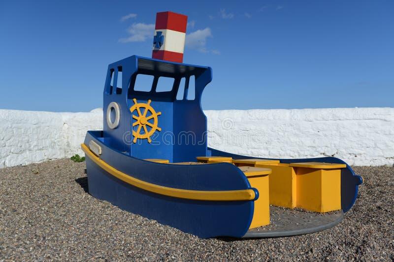 Barco azul foto de archivo libre de regalías