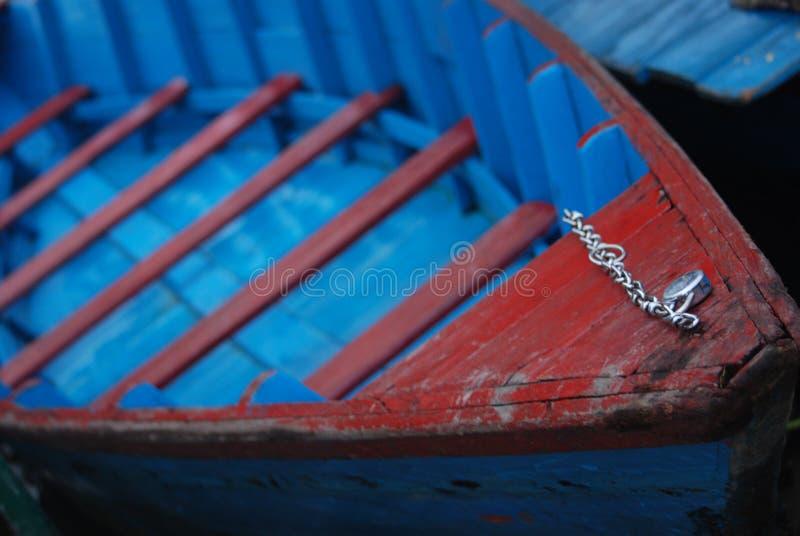 Barco azul fotos de archivo libres de regalías