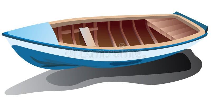 Barco azul ilustração stock