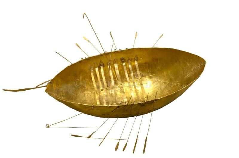Barco batido delicado do ouro. foto de stock