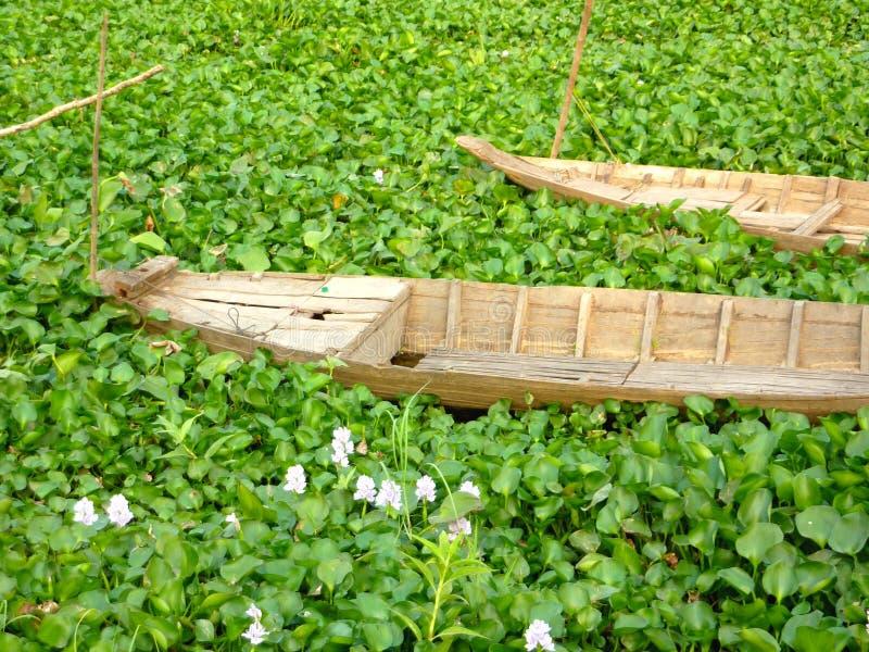 Barco camboyano viejo imagen de archivo libre de regalías