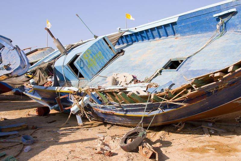 Barco clandestino foto de stock