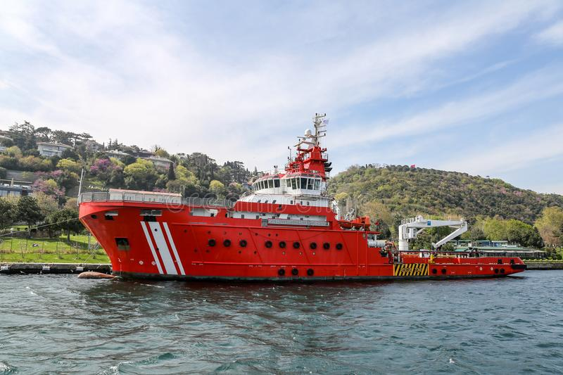 Barco costero de la seguridad foto de archivo libre de regalías