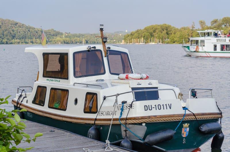 Barco da carta patente, escargot VITESSE fotografia de stock