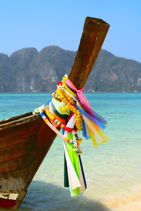 Barco da cauda longa, Tailândia imagens de stock