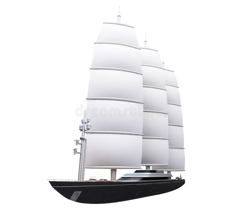 Barco da embarcação isolado sobre o branco ilustração royalty free