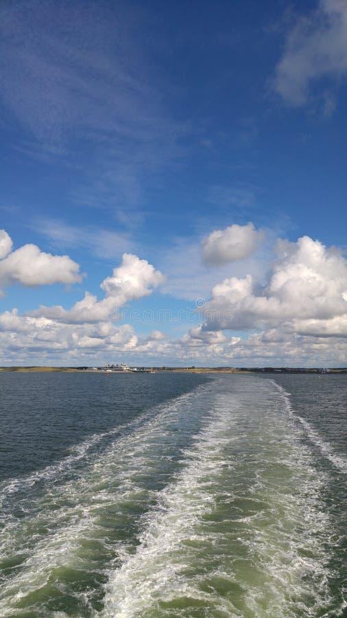 Barco da Holanda de Texel foto de stock royalty free