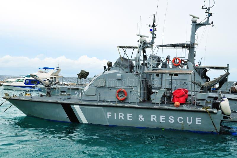 Barco da luta contra o incêndio foto de stock