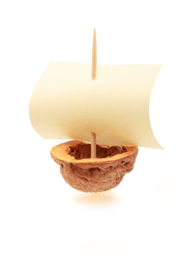 Barco da noz imagem de stock