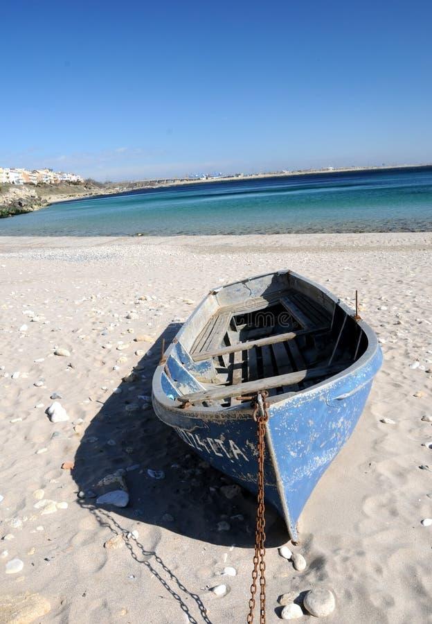 Barco da praia imagem de stock