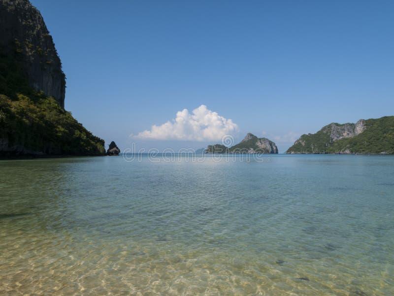 Barco da velocidade no golfo de Tailândia foto de stock