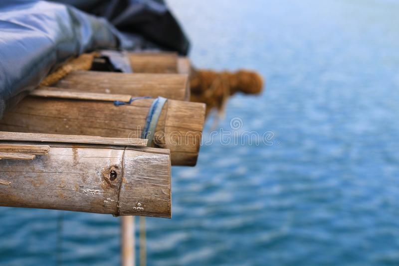 barco de bambu fotografia de stock