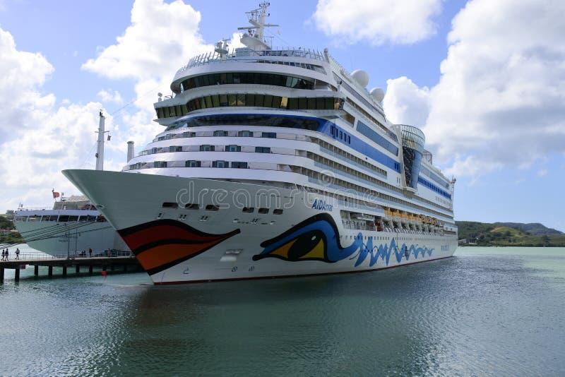 Barco de cruceros de AidaMar en el muelle fotos de archivo libres de regalías