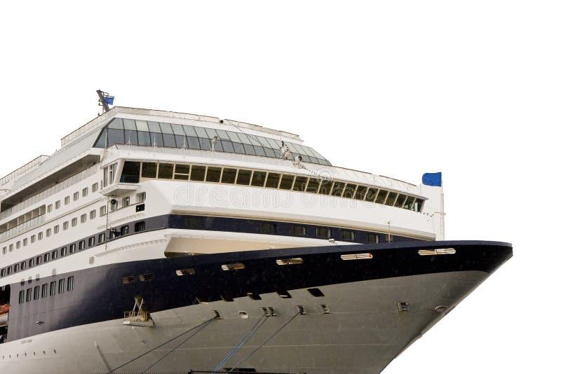 Barco de cruceros aislado en blanco fotos de archivo libres de regalías