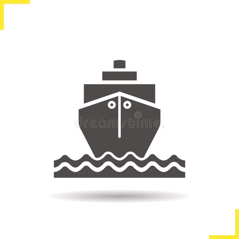 Barco de cruceros con el icono de las ondas libre illustration