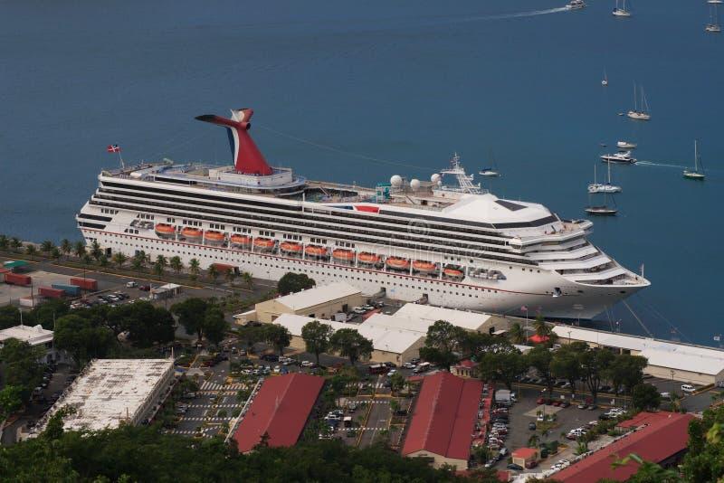 Barco de cruceros del Caribe fotos de archivo libres de regalías