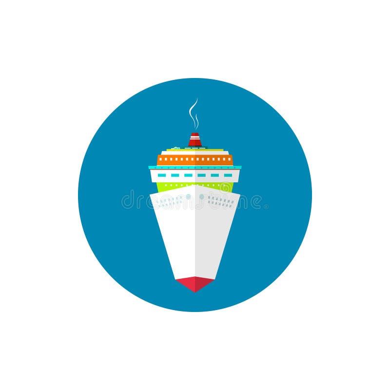 Barco de cruceros del pasajero del icono libre illustration