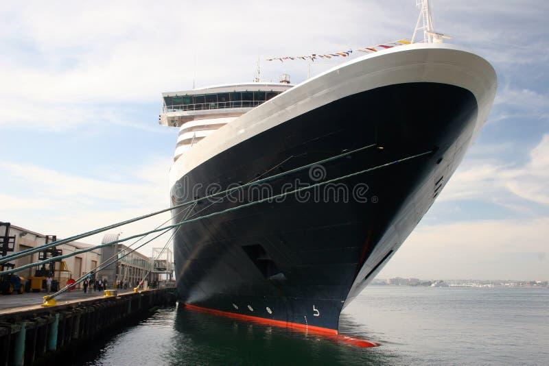 Barco de cruceros del revestimiento marino foto de archivo libre de regalías