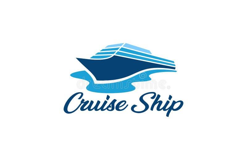 Barco de cruceros del viaje stock de ilustración