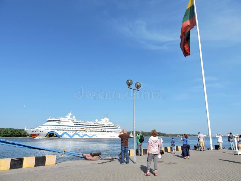 Barco de cruceros del vita de AIDA foto de archivo libre de regalías