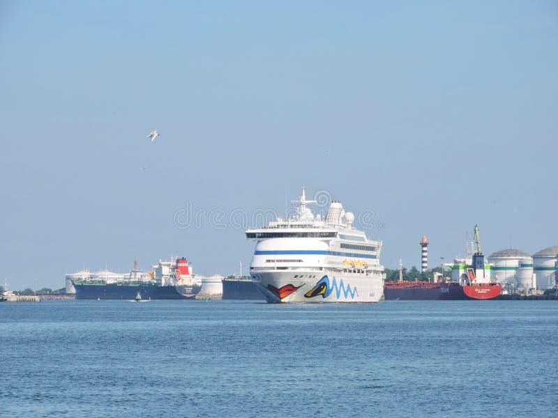 Barco de cruceros del vita de AIDA foto de archivo