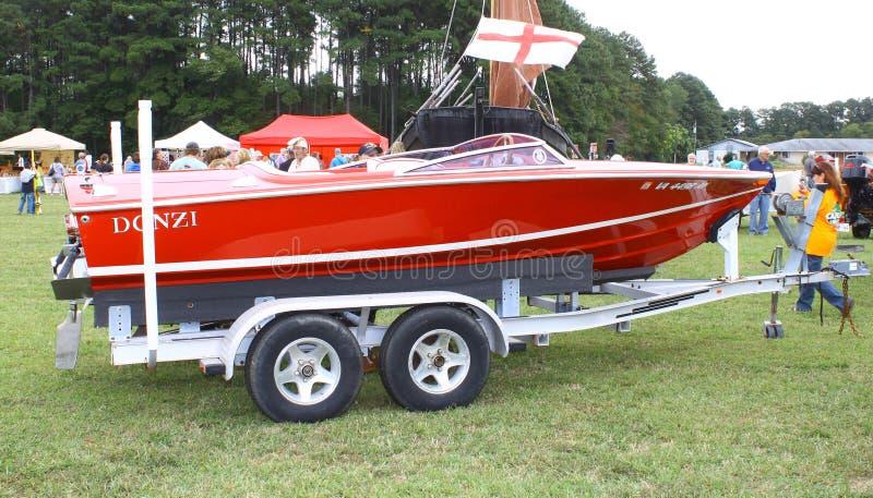 Barco de Donzi del vintage foto de archivo libre de regalías