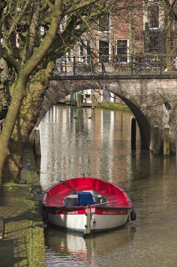 Barco de enfileiramento em Utrecht imagem de stock royalty free