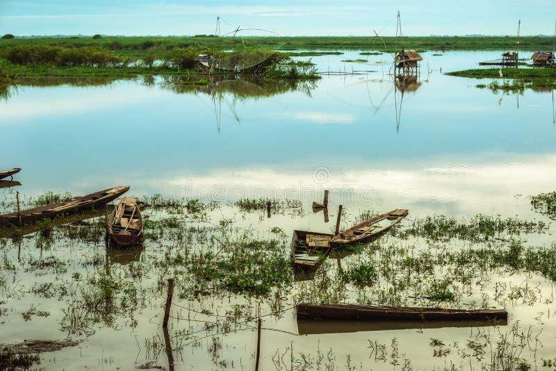 Barco de fila foto de archivo libre de regalías