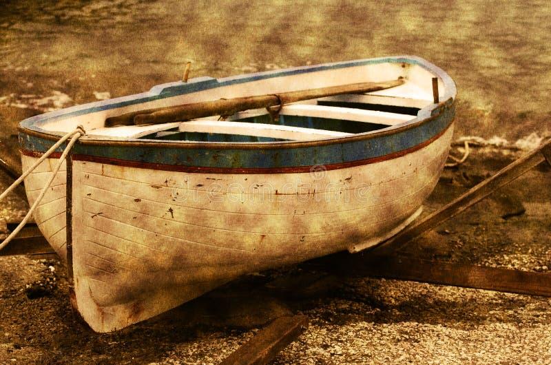 Barco de fileira velho fotos de stock royalty free