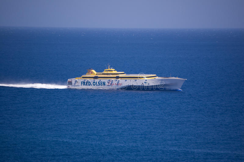 Barco de Fred Olsen imagen de archivo
