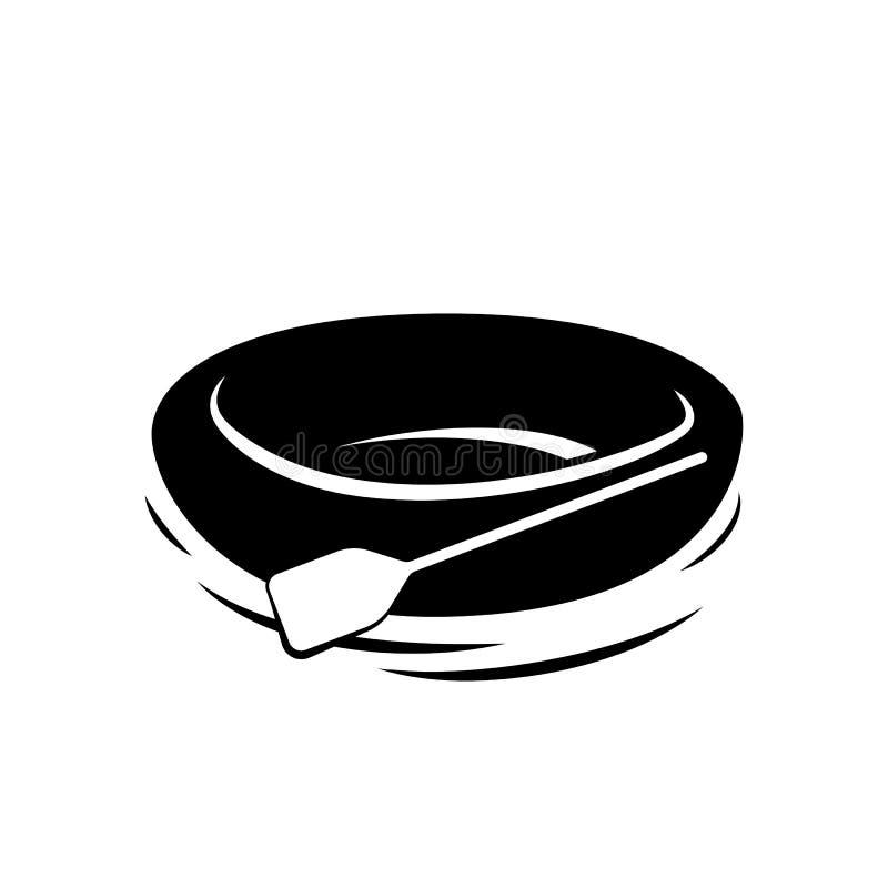 Barco de goma con la paleta stock de ilustración