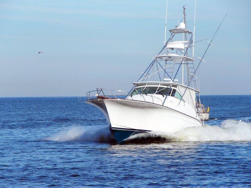 Barco de la carta de la pesca imagen de archivo libre de regalías