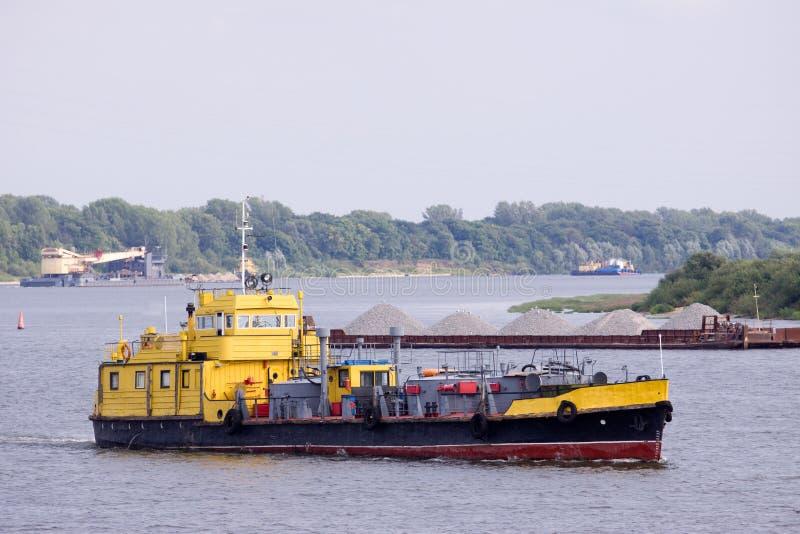 Barco de la etiqueta fotografía de archivo