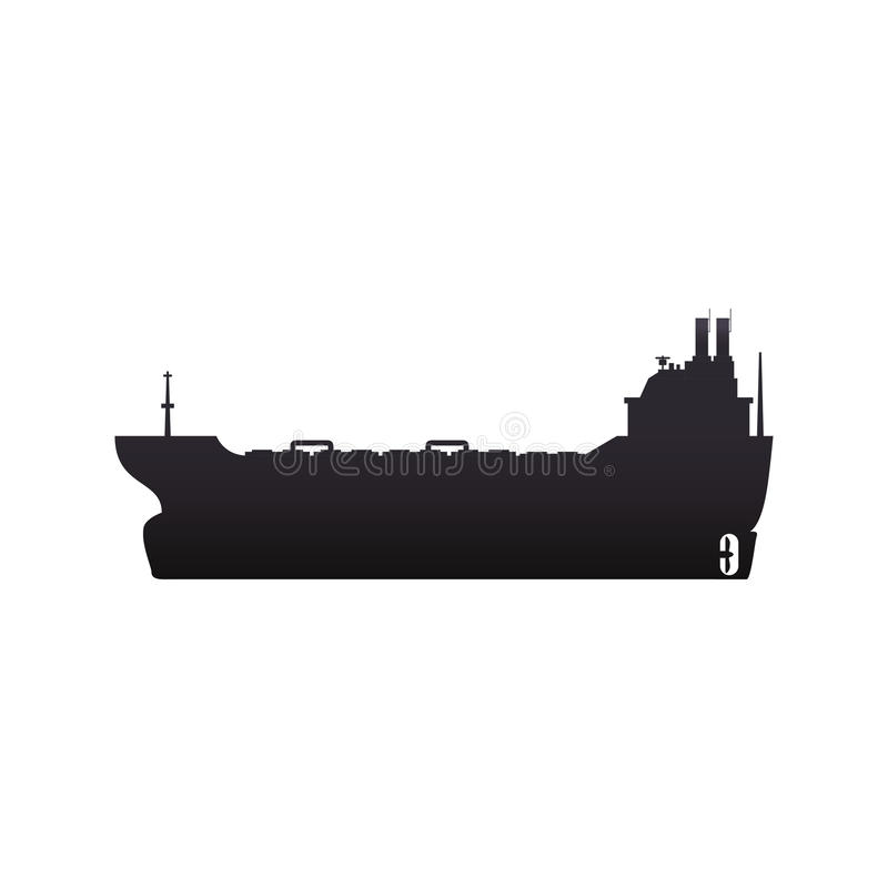 barco de la nave del carguero libre illustration