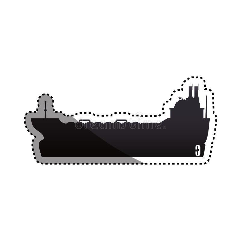 barco de la nave del carguero stock de ilustración