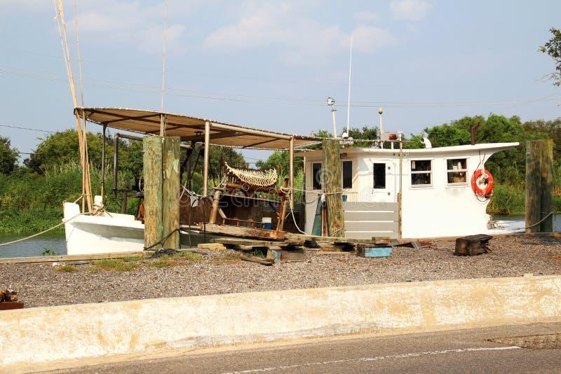 Barco de la ostra de Luisiana fotos de archivo libres de regalías