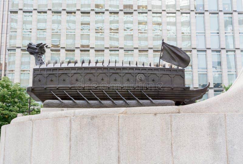 Barco de la tortuga de la dinastía de Joseon de Corea imagen de archivo