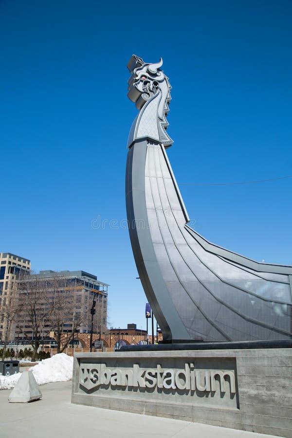 Barco de Longship dos Viquingues de Minnesota imagens de stock