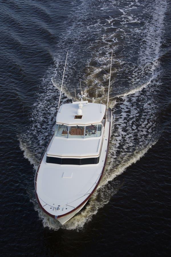 Barco de lujo blanco fotografía de archivo libre de regalías